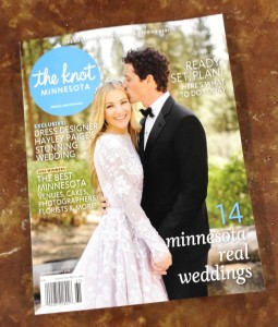 "photo of the cover of ""The Knot Minnesota"" magazine"